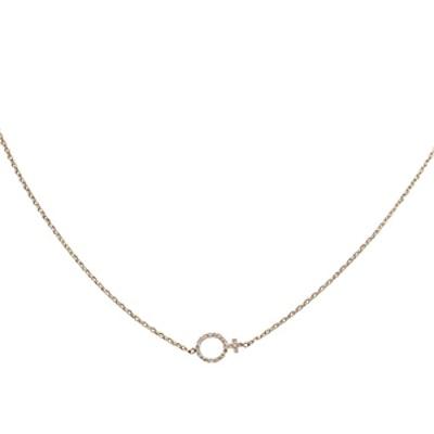 Female Symbol Necklace With Diamonds