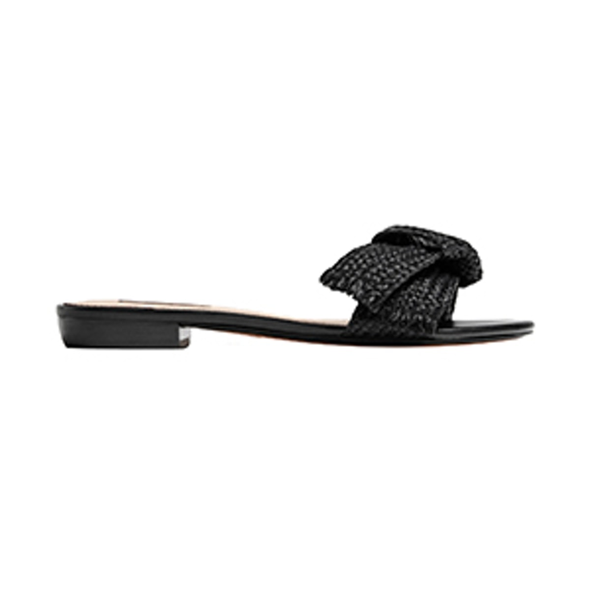 Black Sandals with Bow Detail