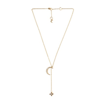 Lili Claspe Rope The Moon Lariat Necklace