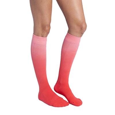 Companion Compression Socks in Red Dip Dye Ombre