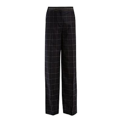 Hansel High-Rise Wide-Leg Wool-Blend Trousers