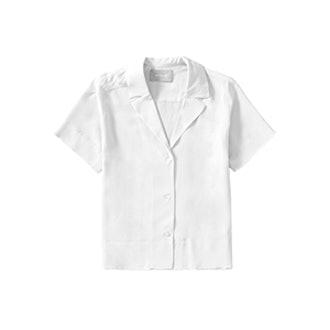 The Silk Notch Collar Short-Sleeve Shirt