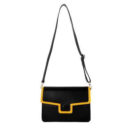 Black & Yellow Outline Shoulder Bag