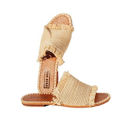 Fringe Slide Sandal