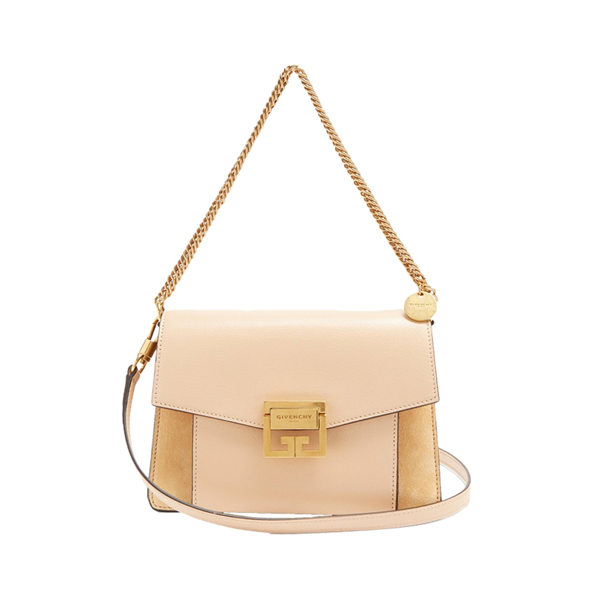 GV3 Small Suede And Leather Cross-Body Bag