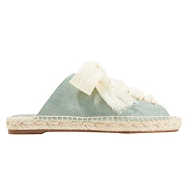 Harper Lace-Up Suede Sandals