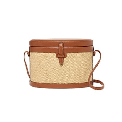 Iraca Trunk Raffia And Leather Shoulder Bag