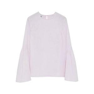Flared Cotton-Poplin Top