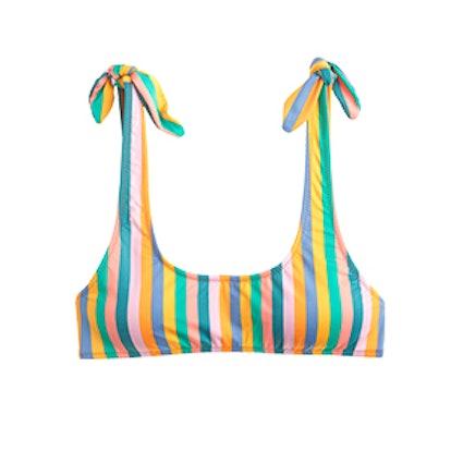 Printed Nantucket Tie Shoulder Bikini Top