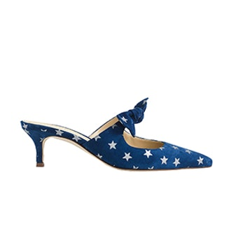 Sophia Mules In Starry Suede