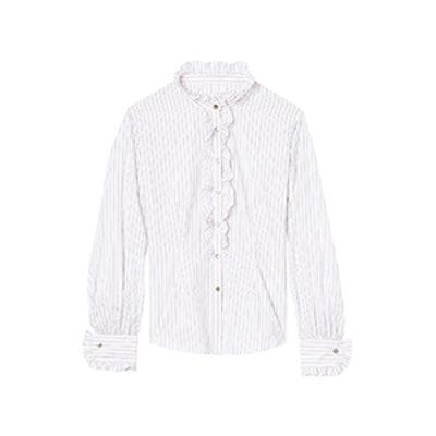 Gigi Stripe Ruffle Shirt