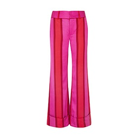 Endless Optimist Striped Silk-Satin Flared Pants