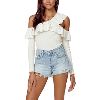 One Shoulder Never Again Top
