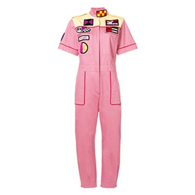 Crosiére Patch-Embroidered Jumpsuit