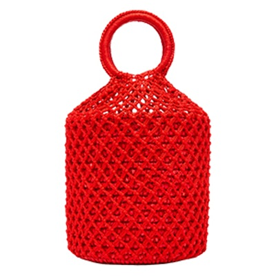 M'O Exclusive Netted Straw Tote Bag