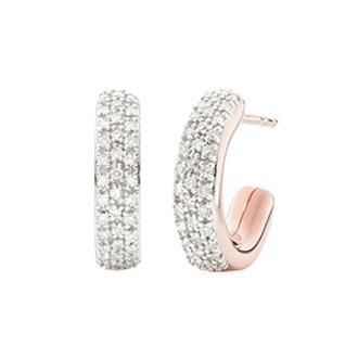 Fiji Mini Hoop Diamond Earrings