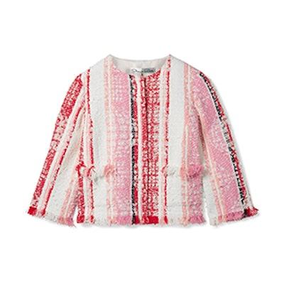 Cropped Fringed Tweed Jacket