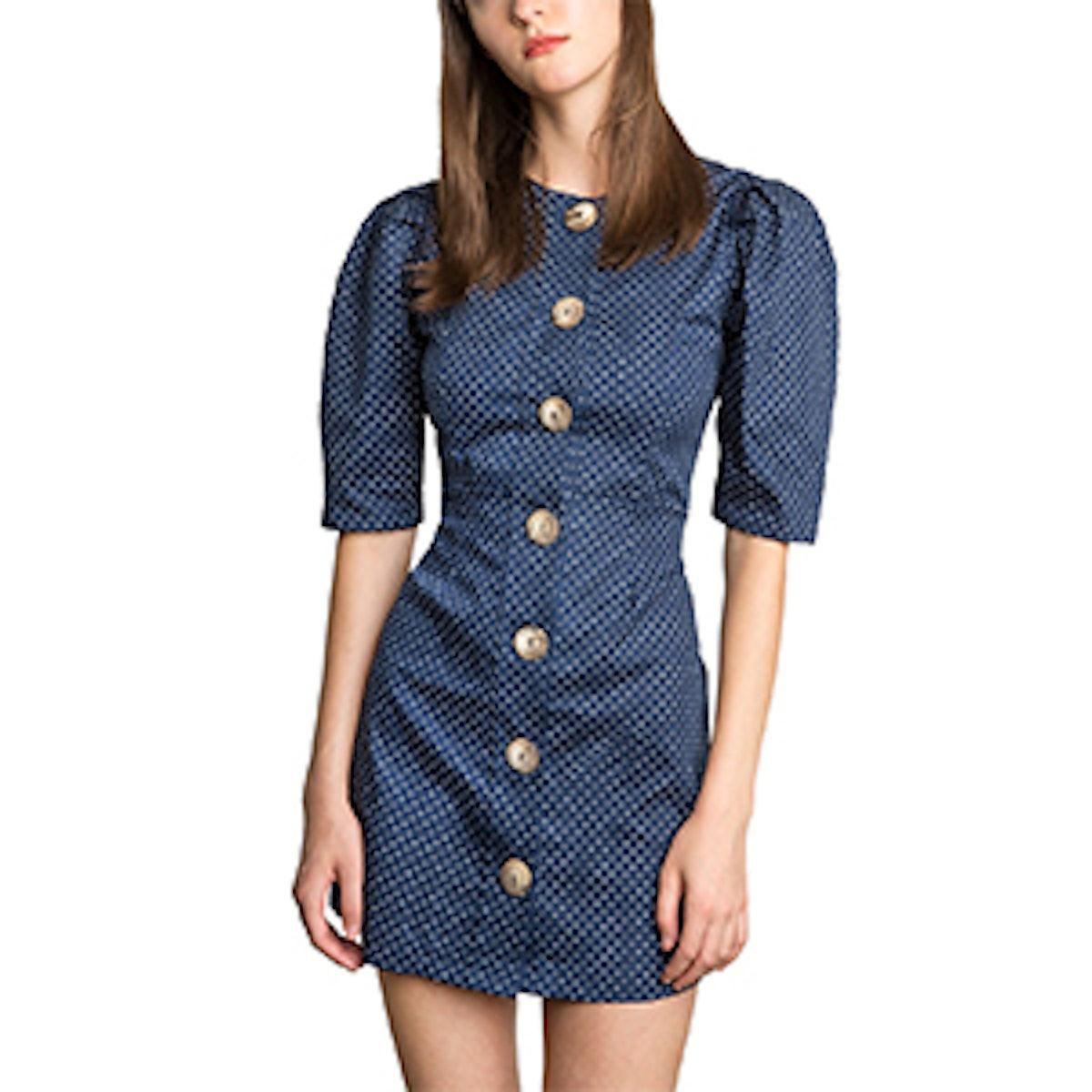 Mirabel Polka Dot Button Dress