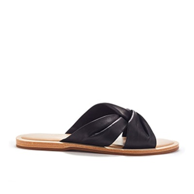 Hampton Knotted Leather Slides
