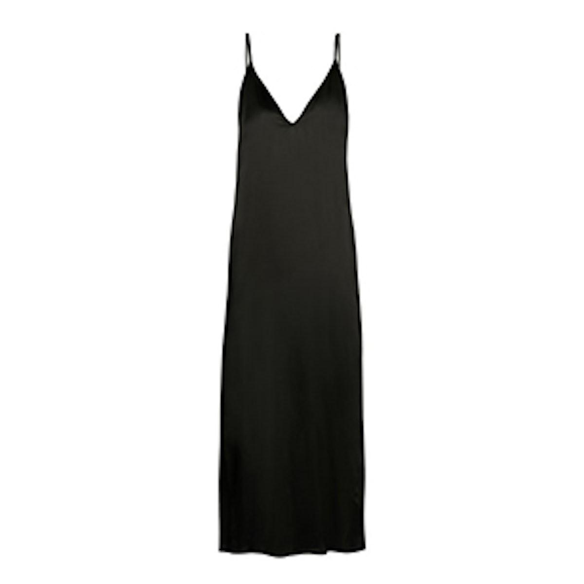 Raey V-Neck Silk-Satin Midi Slip Dress
