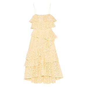 Addison Ra Ra Tiered Lace Midi Dress