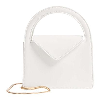Envelope Flap Faux Leather Crossbody Satchel