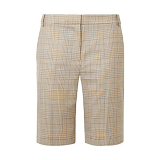Cooper Prince of Wales Checked Wool and Silk-Blend Shorts