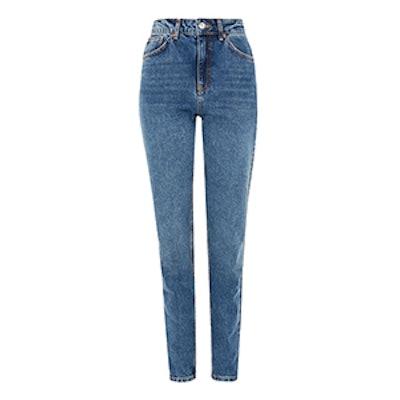 Moto Mid Blue Mom Jeans