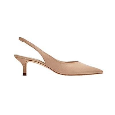 Leather Slingback Shoes