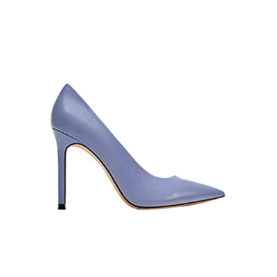 Lilac High Heel Leather Court Shoes