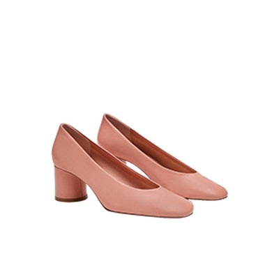 Monochrome Leather Court Shoes