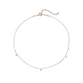 Dew Drop 14-Karat Rose Gold, Pearl And Diamond Choker