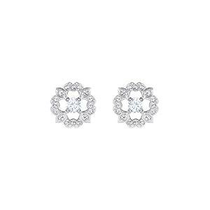 Sparkling Dance Pierced Earrings