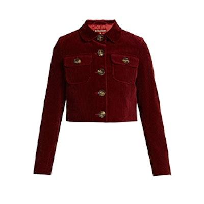 Cropped Cotton-Corduroy Jacket