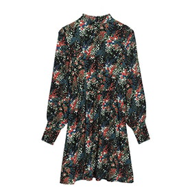 Dark Blooms Print Dress