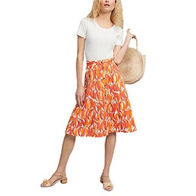 Banana Grove Denim Midi Skirt