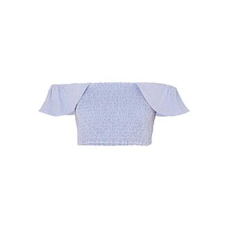 Lamu Off-The-Shoulder Shirred Cotton-Canvas Top