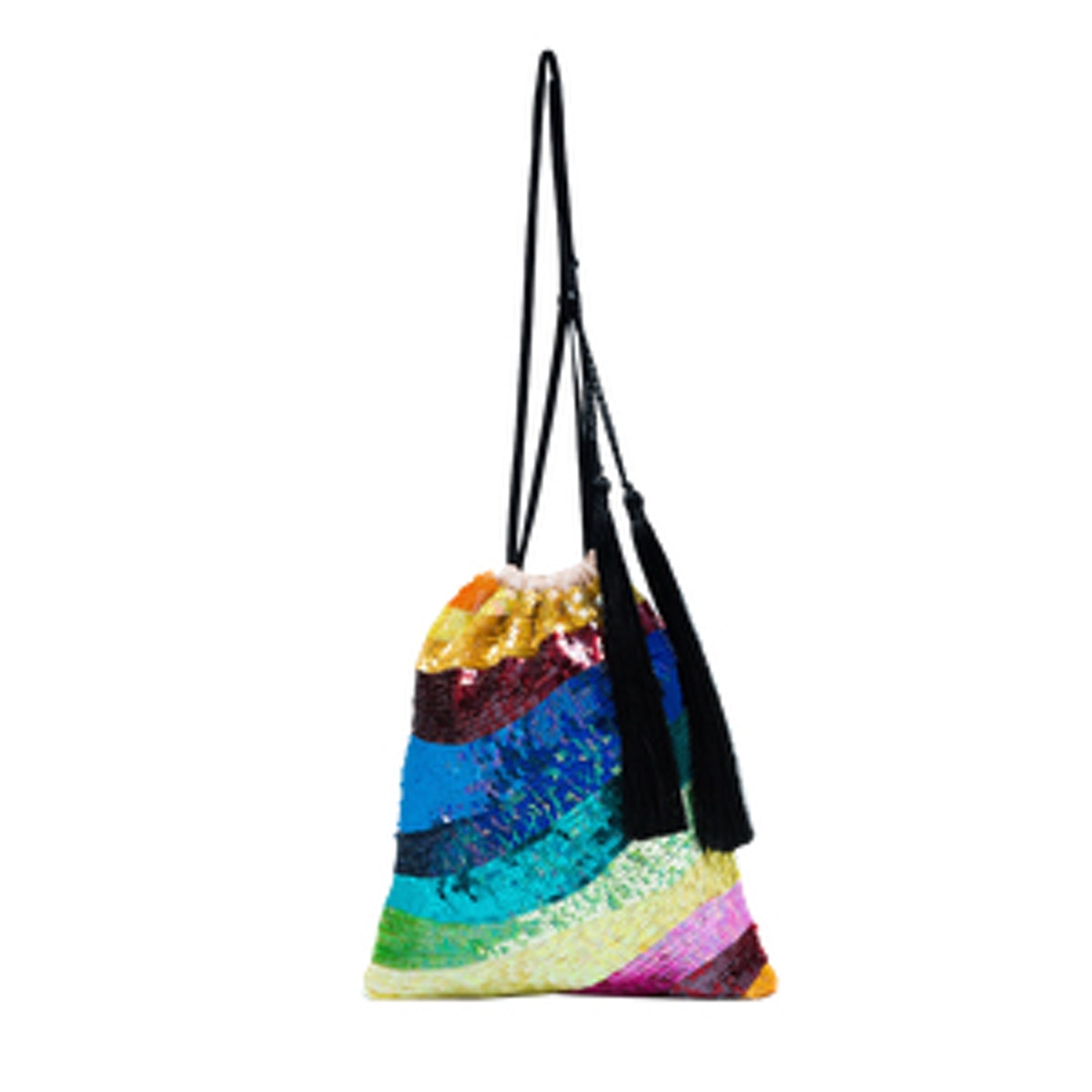 Sequin Tassel Rainbow Bracelet Bag