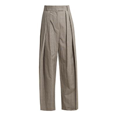 Glen Plaid-Checked Wide-Leg Trousers