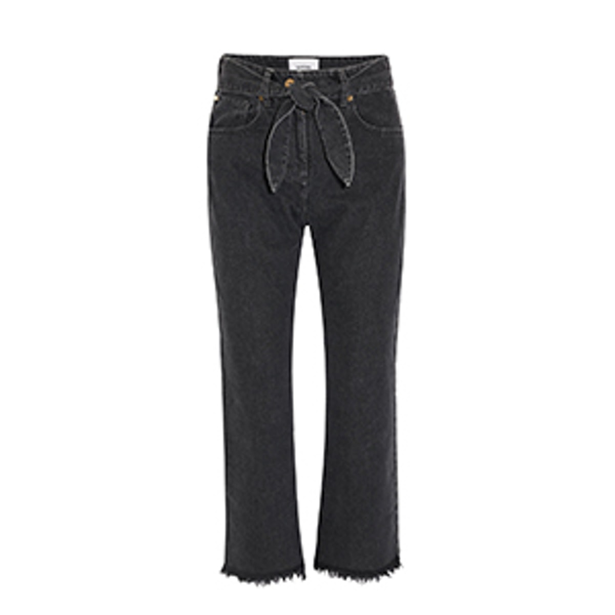 Pyramid Cropped Embellished High-Rise Straight-Leg Jeans