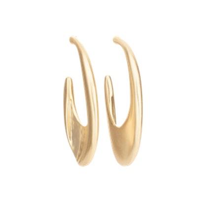Gigi Hammered Hoop Earrings