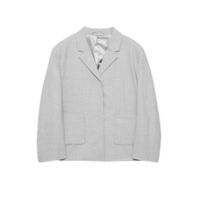 Cropped Lightweight Wool Blazer