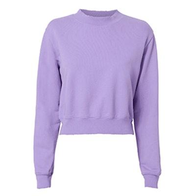 Milan Cropped Purple Sweatshirt