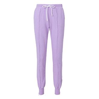 Milan Zip Detail Purple Jogger Pants