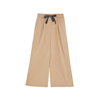 Culottes With Contrasting Ribbed Drawstrings