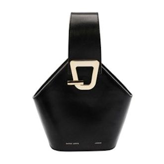 Danse Lente Mini Johnny Leather Hexagon Shoulder Bag