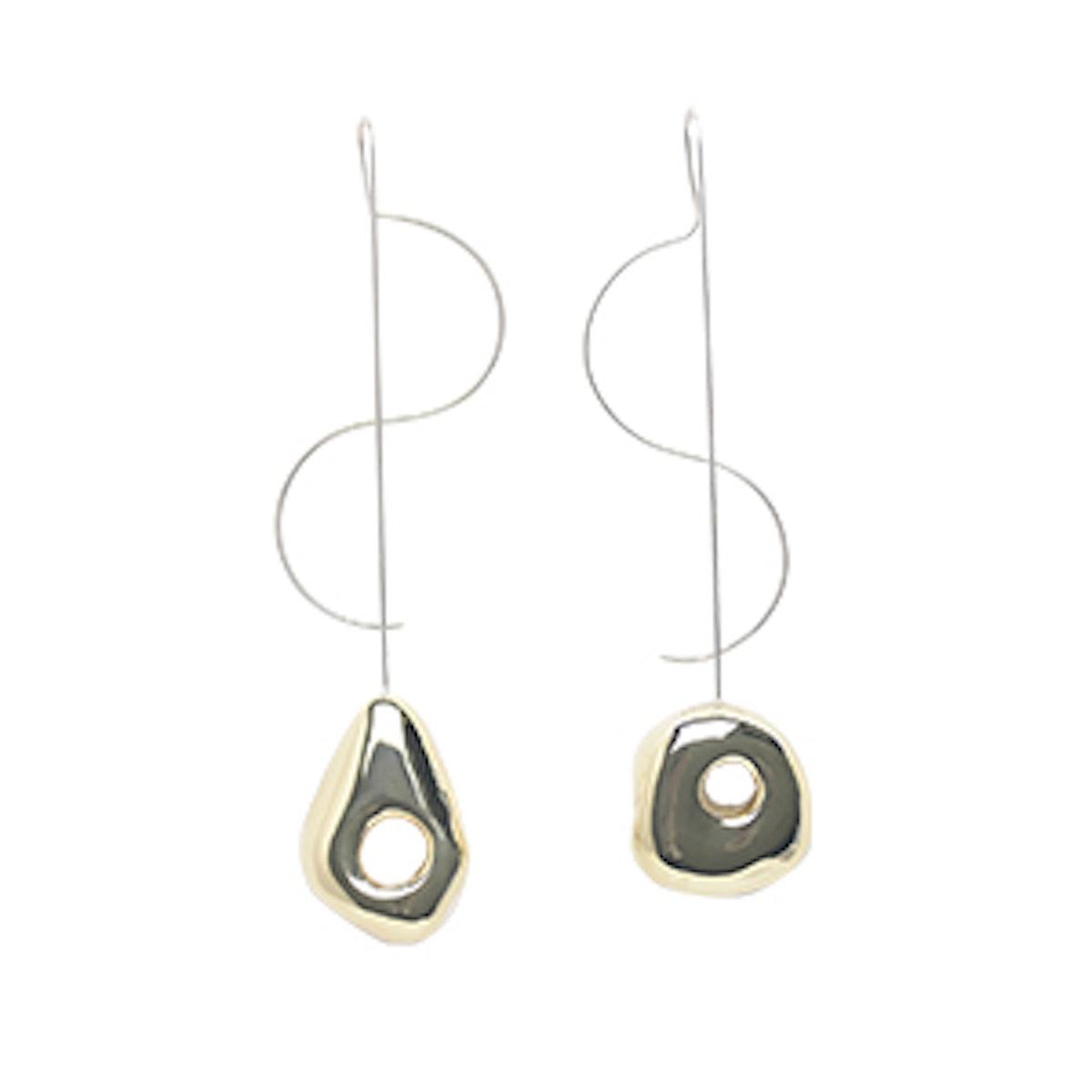 Two Tone Hepworth Drop Earrings