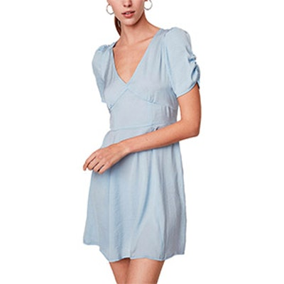 Empire Waist Fit And Flare Mini Dress