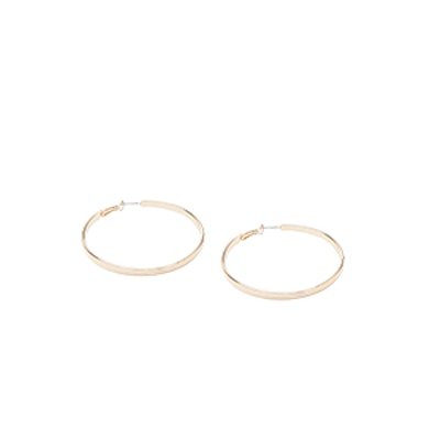 Thick Polished Hoop Earrings