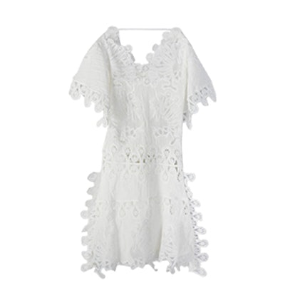 Oversized Cotton Linen Crochet Dress Regular